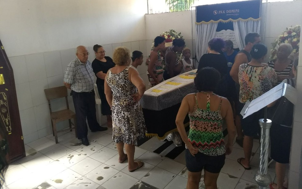 Velório de Andrielly Mendonça Pereira dos Santos (Foto: Gabriela Ribeti/ TV Gazeta)