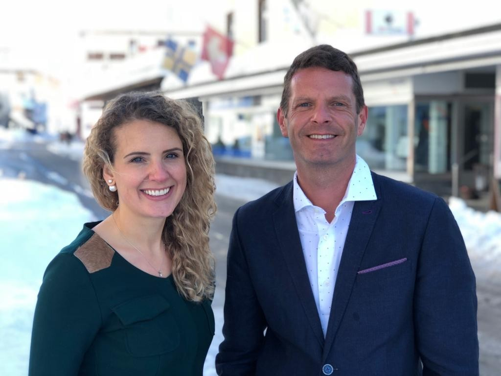 David Hertz e a CEO da Gastronomotiva Nicola Gryczka