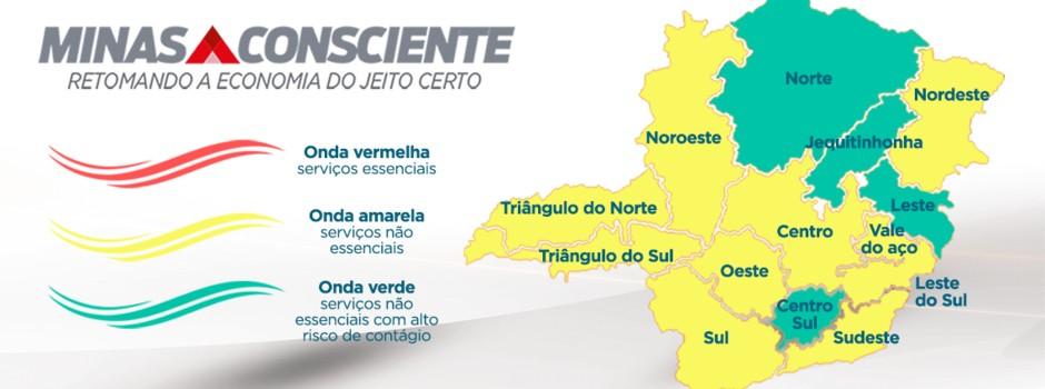 Triângulo Norte, Triângulo Sul e Noroeste permanecem na Onda Amarela do Minas Consciente