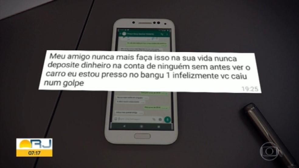 Motoristas de aplicativos estão sendo vítimas do golpe da caução do aluguel de veículos, no Rio — Foto: Reprodução/TV Globo
