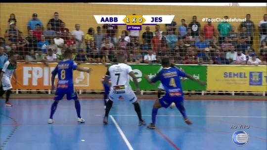 Com melhor campanha, AABB empata em 2 a 2 com JES e garante o título da 1ª Taça Clube de Futsal