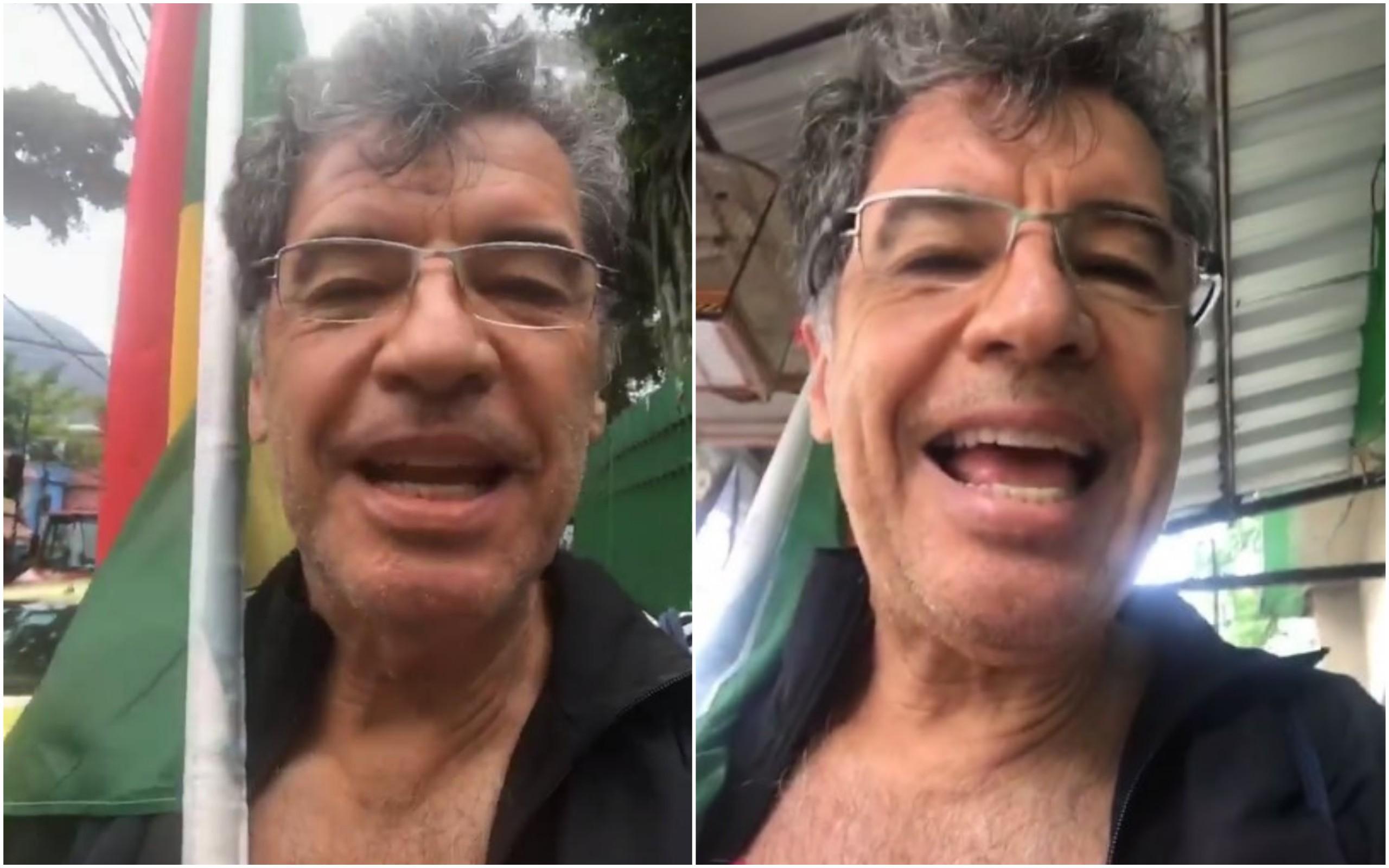 O ator Paulo Betti foi à comunidade da Tijuquinha, no Itanhangá, para conversar com indecisos e eleitores de Bolsonaro