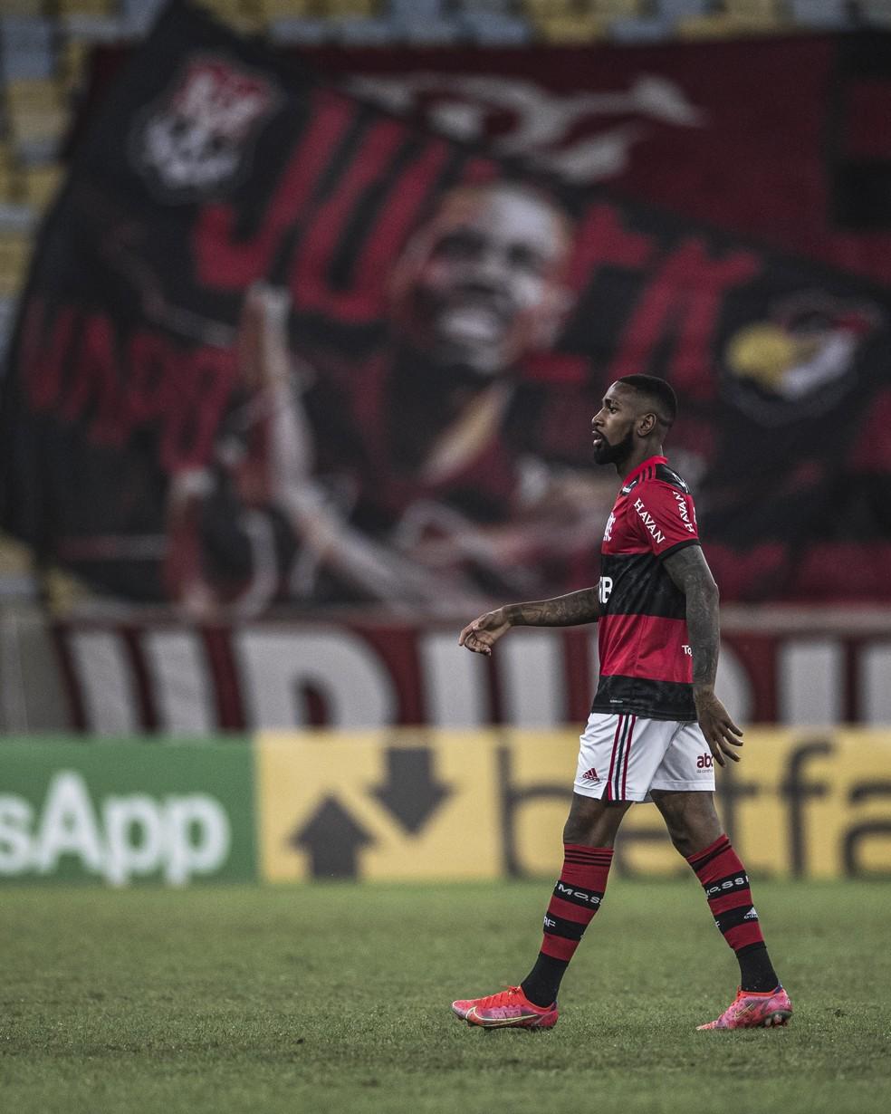 Gerson disputou seu último jogo pelo Flamengo — Foto: Pedro Martins