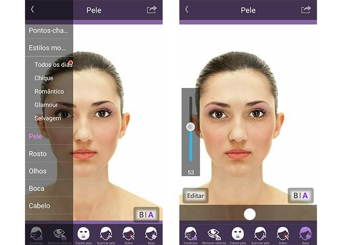 Perfect365 apica maquiagePerfect365 aplica maquiagem e permite ajustar a intensidade (Foto: Reprodução/Barbara Mannara)m e permite ajustar a intensidade (Foto: Reprodução/Barbara Mannara)