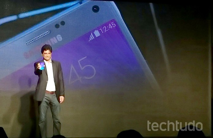 Samsung apresenta Galaxy Note 4 e Gear S no Brasil (Foto: Paulo Alves/TechTudo)