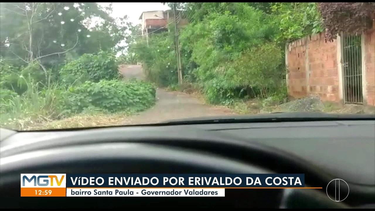 VC no MG1: morador reclama de rua no bairro Santa Paula, em Governador Valadares