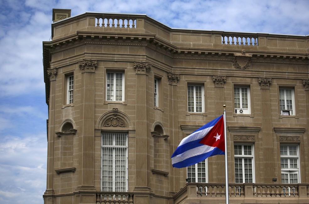 Embaixada de Cuba em Washington DC, em foto de 20 de julho de 2015  (Foto: Carlos Barria/ Reuters)