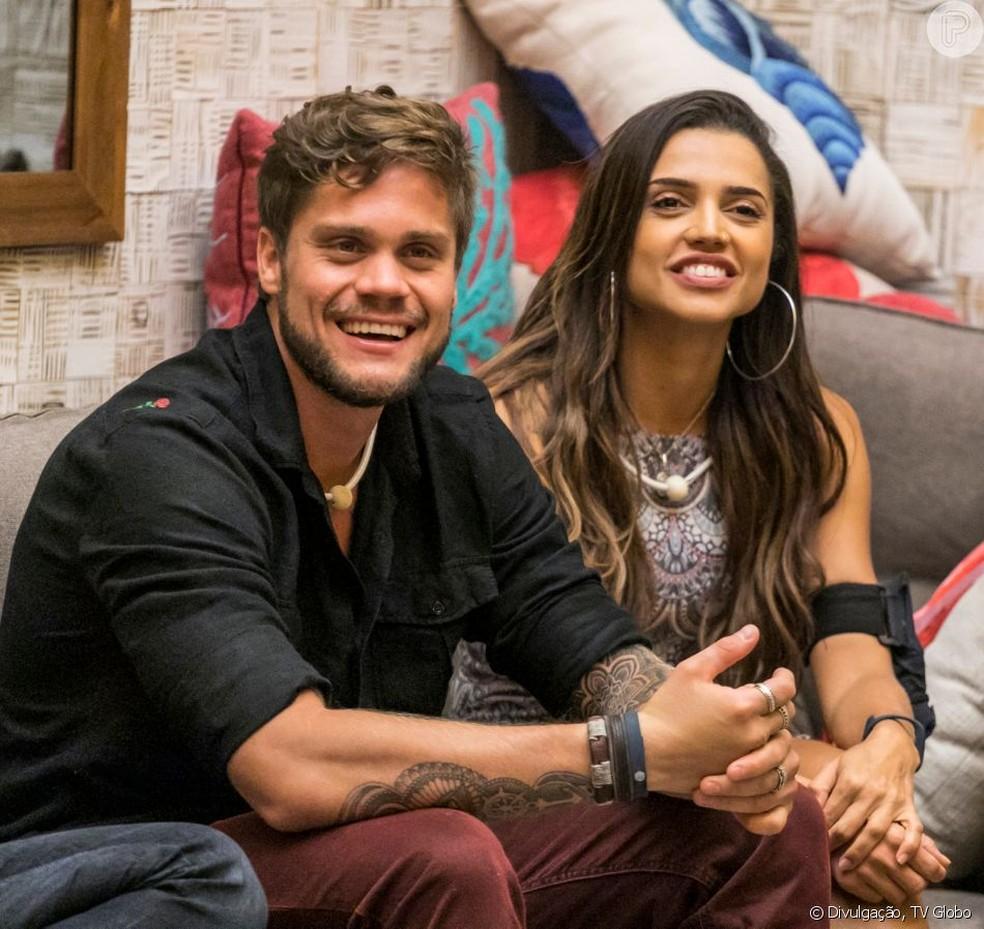 Breno e Paula se conheceram no BBB18  — Foto: TV Globo/Reprodução