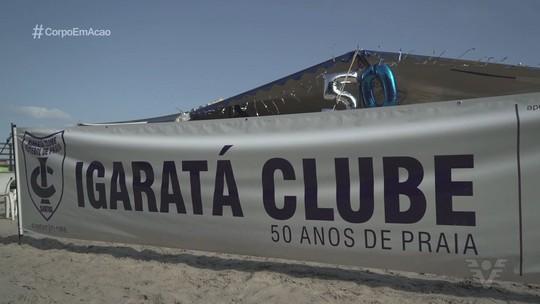 Igaratá Futebol Clube comemora 50 anos nas areias das praias de Santos
