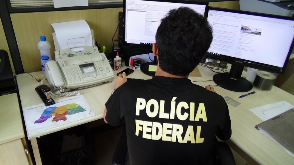 Polícia Federal cumpriu mandados de busca e apreensão em cinco cidades do RN (Foto: PF/Divulgação)