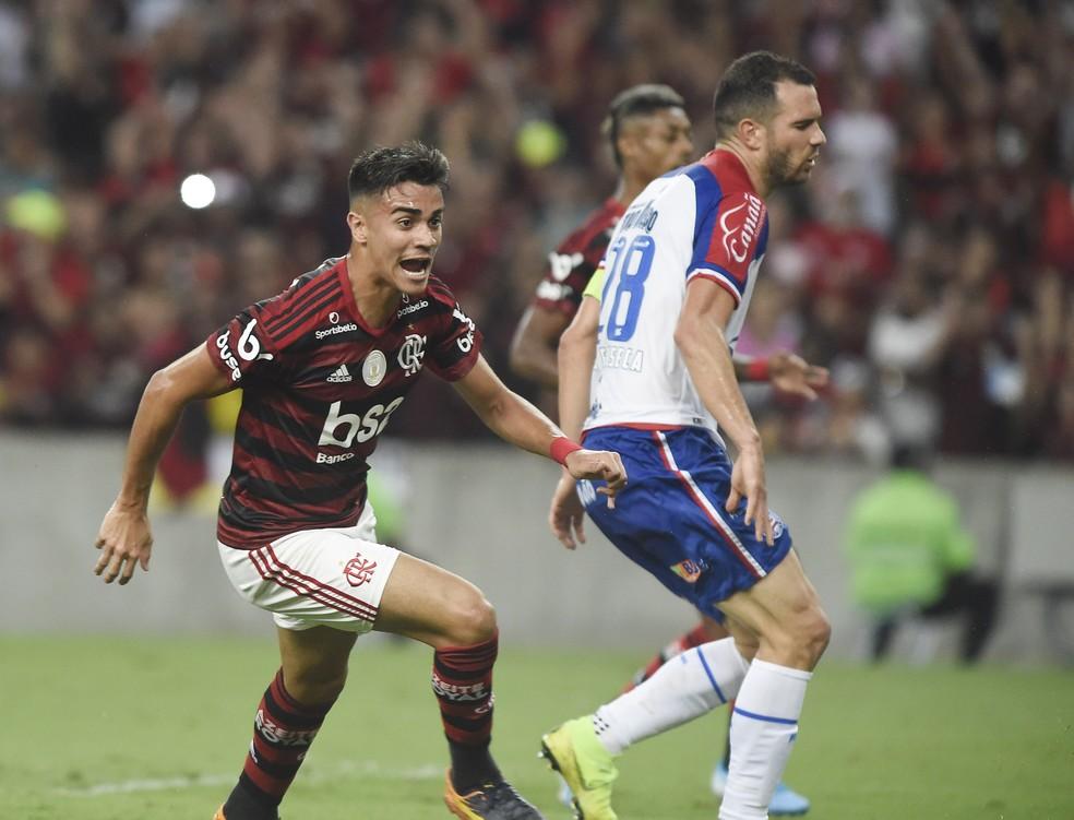 Aos 17 anos, Reinier já marcou quatro gols pelo profissional do Flamengo  — Foto: André Durão/GloboEsporte.com