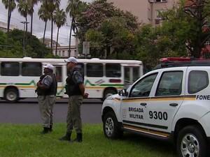 PMs fazem policiamento ostensivo em Porto Alegre (Foto: Brigada Militar/Divulgação)