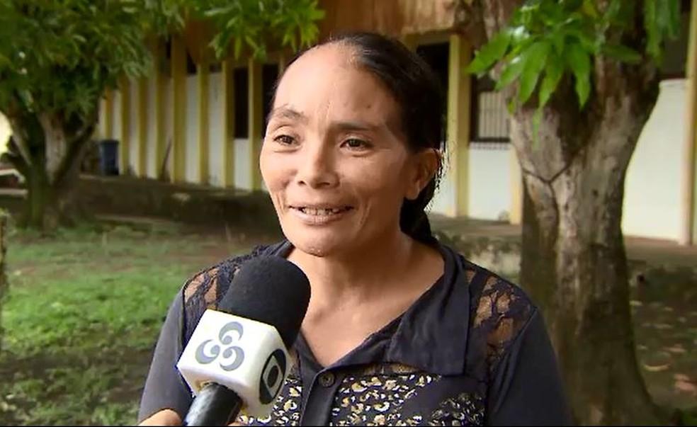 Rosilete de Souza Soares, mãe de Ana Vitória — Foto: Rede Amazônica/Reprodução