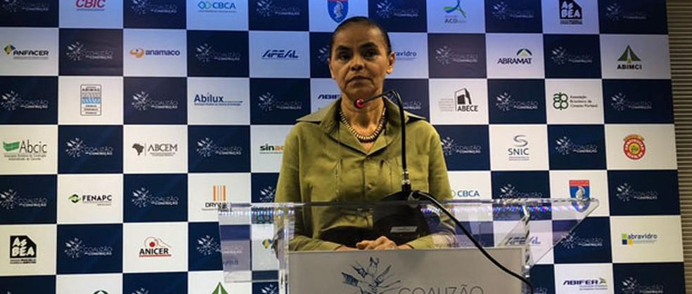 A candidata da Rede à Presidência, Marina Silva (Foto: Fernanda Calgaro, G1)