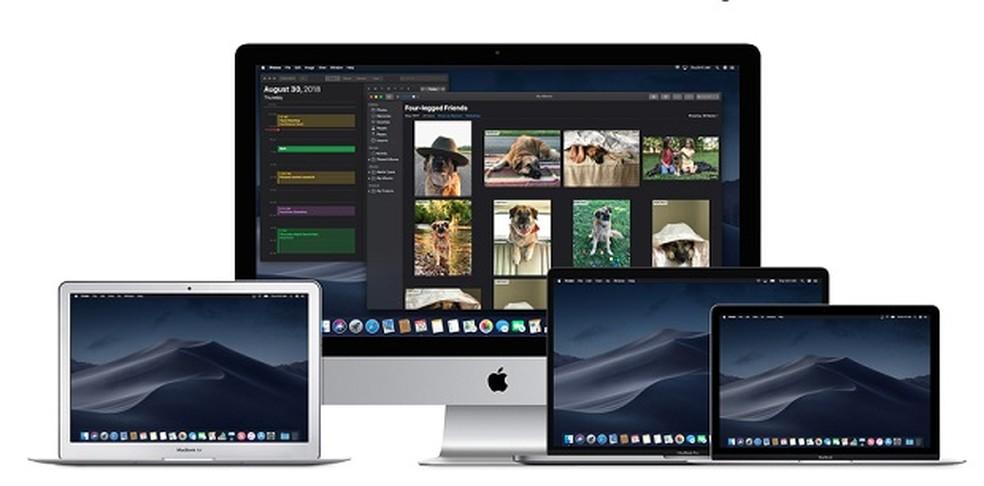 Opção de modo noturno no sistema operacional MacOS fez sucesso entre os usuários. — Foto: Divulgação/Apple