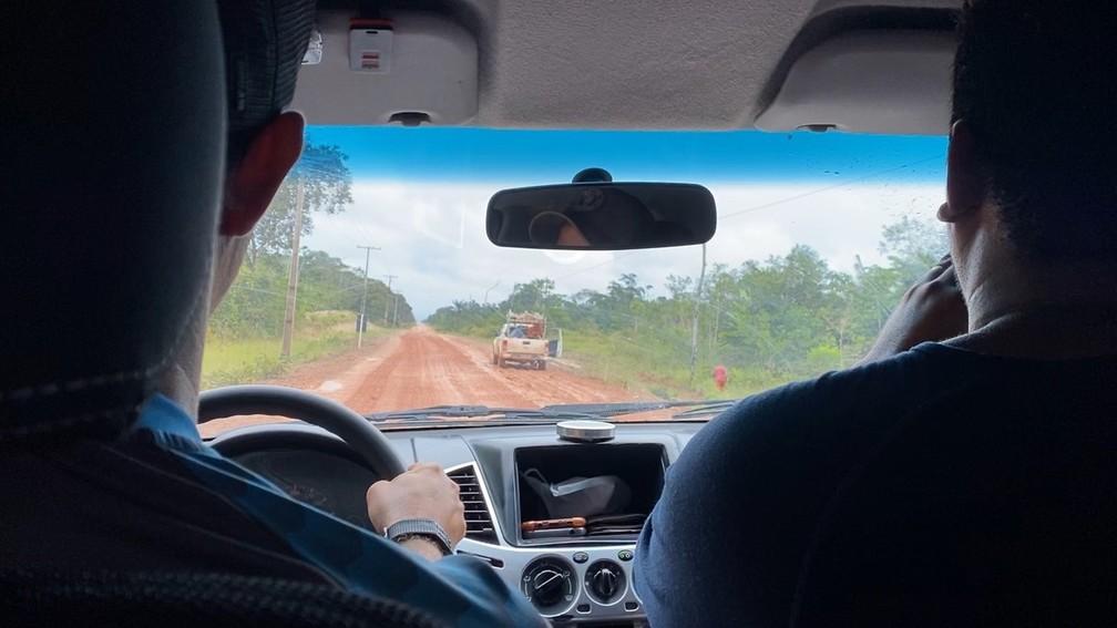 Equipe percorreu estrada em 10 dias de viagem pela BR-319 — Foto: Rede Amazônica