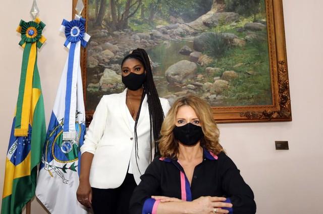 Cris Vianna e Rita Guedes (Foto: Arquivo pessoal)