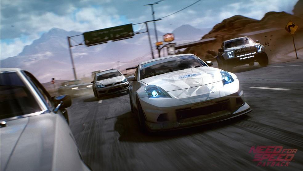 -   Need for Speed Payback  tenta recriar experiência de cinema na série de jogos de corrida  Foto: Divulgação