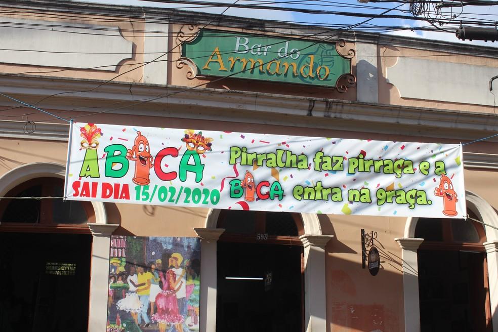 Fachada do tradicional Bar do Armando, em Manaus  — Foto: Matheus Monteiro/Rede Amazônica