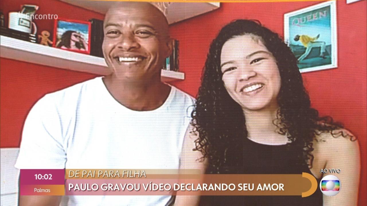 Paulo emociona ao gravar declaração de amor para a filha Graziella