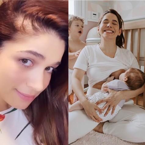 Sabrina Petraglia e os seus filhos (Foto: Reprodução)