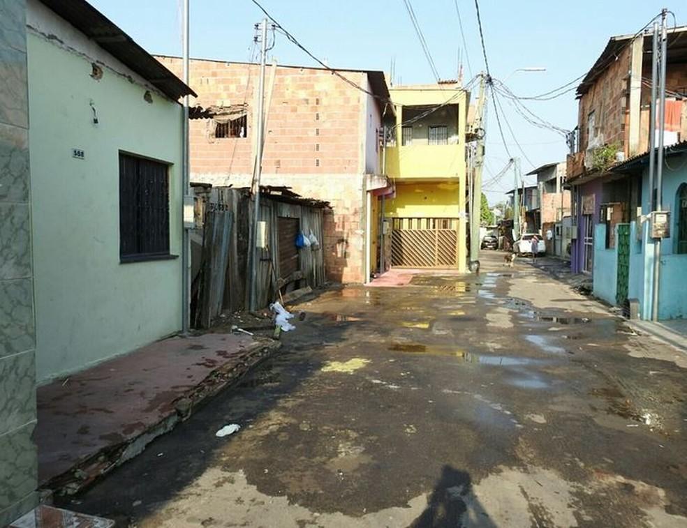 Crime ocorreu no bairro Japiim I, na Zona Sul de Manaus (Foto: Adneison Severiano/G1 AM )