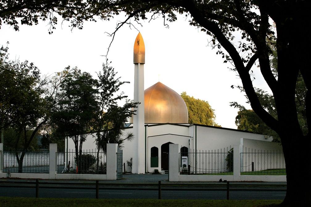 Imagem de arquivo de 2014 mostra mesquita Al Noor em Christchurch, na Nova Zelândia   — Foto: Reuters/SNPA/Martin Hunter