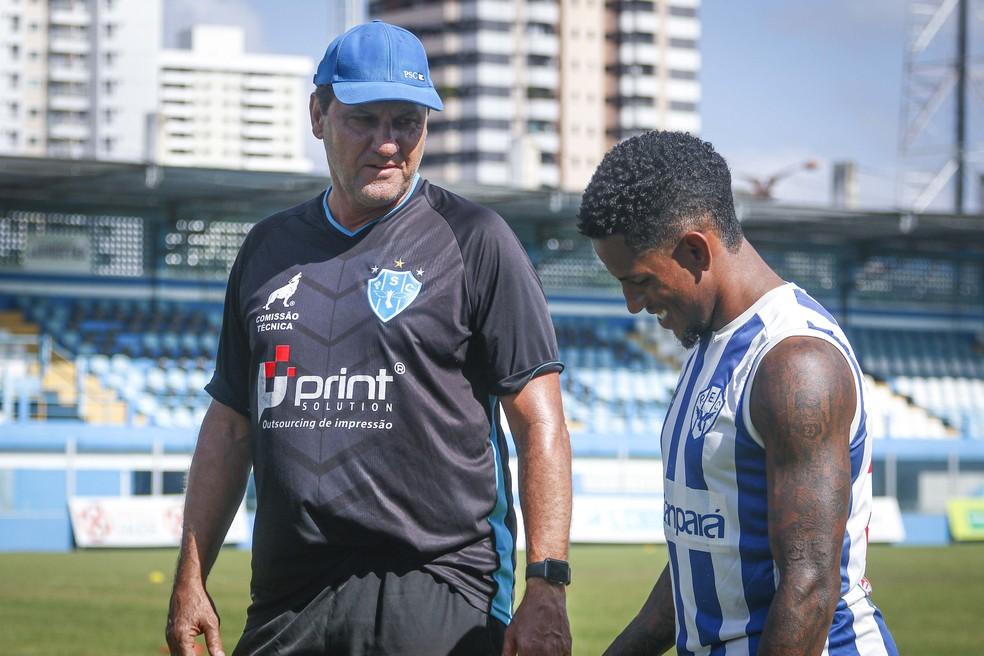 Vitor Feijão tem ganhado sequência com João Brigatti — Foto: Jorge Luiz/Paysandu