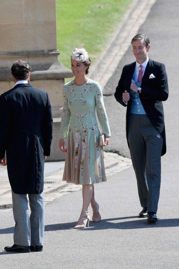 WINDSOR, ENGLAND - MAY 19: Pippa Middleton and James Matthewsa attend  the wedding of Prince Harry to Ms Meghan Markle at St George's Chapel, Windsor Castle on May 19, 2018 in Windsor, England. Prince Henry Charles Albert David of Wales marries Ms. Meghan (Foto: Getty Images)