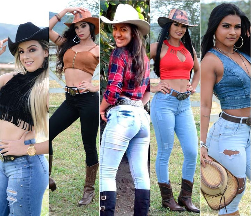 Helly Oliveira, Itailane Rocha, Jéssica Cristina, Jéssica Queiroz e Joseicléia de Santana estão entre as candidatas a rainha da Vaquejada (Foto: Alan Cerqueira/Divulgação)