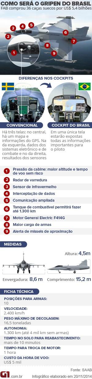 Gripen do Brasil arte VALE ESTE 300 PX (Foto: Arte G1)