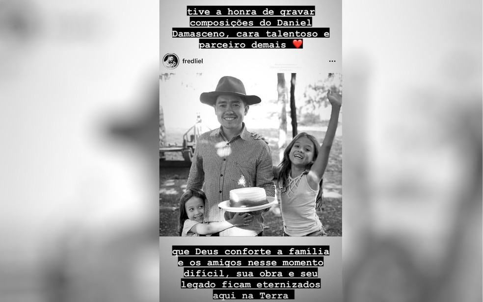 Luan Santana e mais sertanejos lamentam morte de compositor em acidente em Goiás: 'Obra e legado ficam eternizados'  — Foto: Reprodução/Instagram