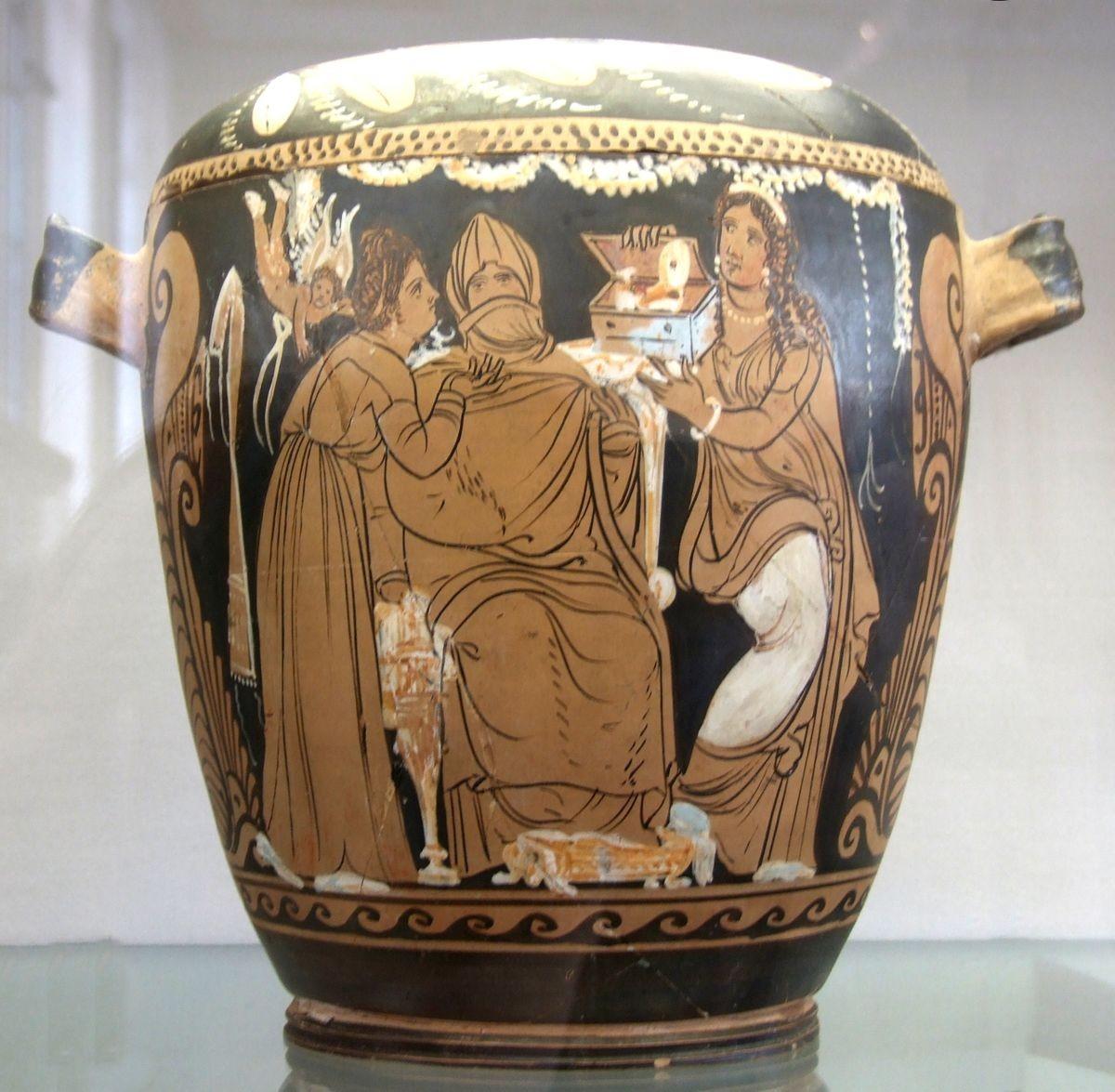 Peça de cerâmica grega (Foto: Wikimedia Commons)