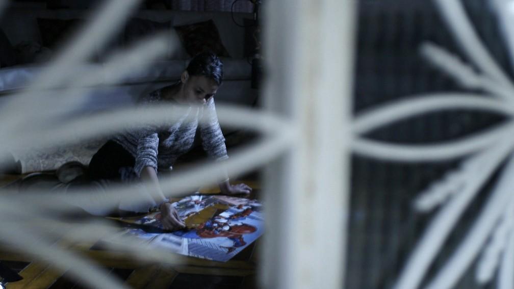 Solange passava madrugadas fazendo quebra-cabeça — Foto: TV Globo/Reprodução