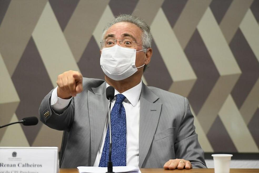 Senador Renan Calheiros, relator da CPI da Covi — Foto: Jefferson Rudy / Agência Senado