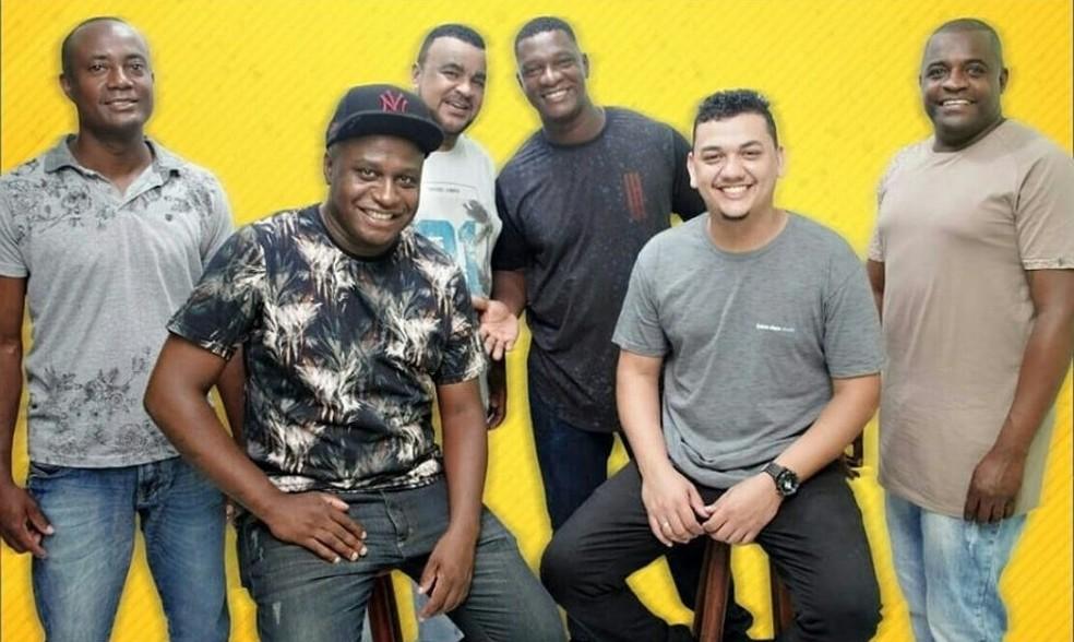 Grupo de samba Kimanero se apresenta na Feira Afro — Foto: Reprodução/Redes Sociais