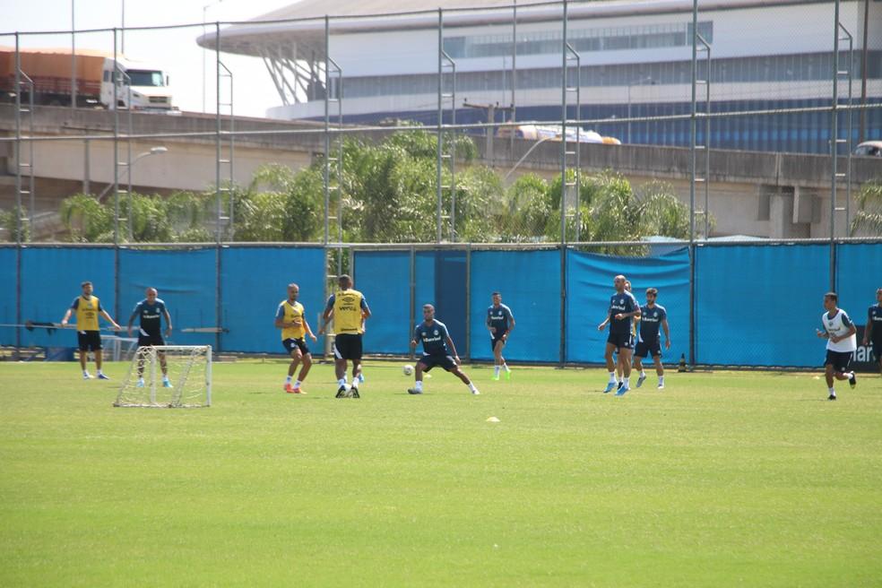 Treino do Grêmio na pré-temporada — Foto: Eduardo Moura