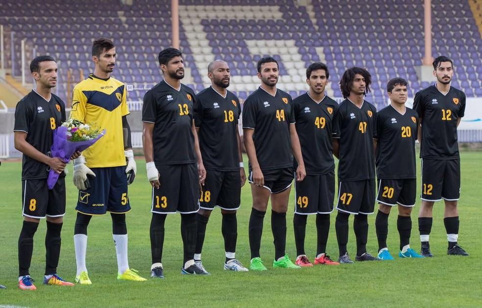 No Qagsia FC, conquistou a Copa do Príncipe - equivalente a Copa do Brasil - e terminou a temporada em 4º lugar na Liga Kuwait (Foto: Arquivo pessoal )