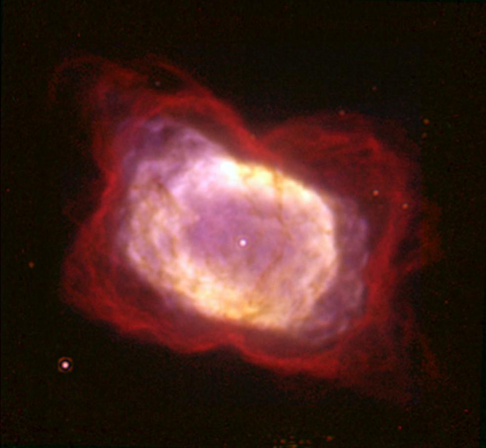 Ilustração mostra a nebulosa NGC 7027 — Foto: Divulgação/Nasa