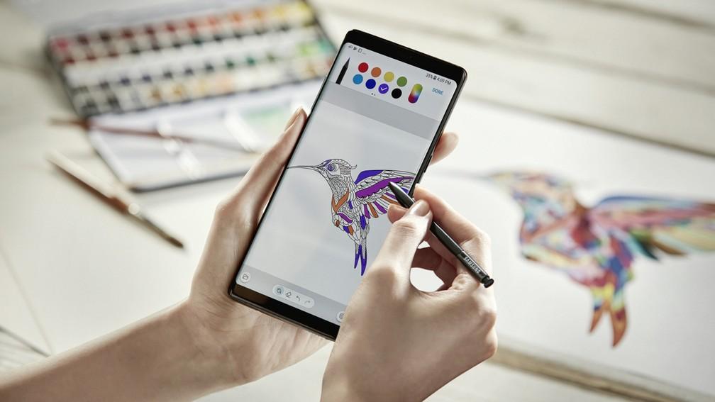 Aplicativo de desenho no Galaxy Note 8 (Foto: Divulgação)
