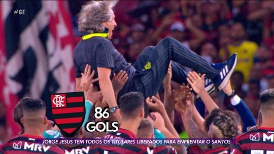 Flamengo fecha o Brasileirão contra o Santos querendo quebrar mais tabus