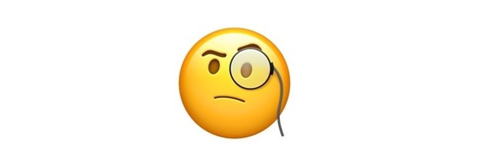 Emoji com dúvidas em relação ao que está sendo lido — Foto: Reprodução/TechTudo