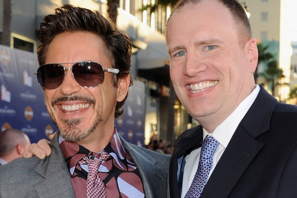 Robert Downey Jr. e Kevin Feige (Foto: Getty Images)