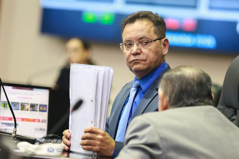 O presidente da ALMT, deputado Eduardo Botelho (PSB) — Foto: Marcos Lopes da Silva/ALMT