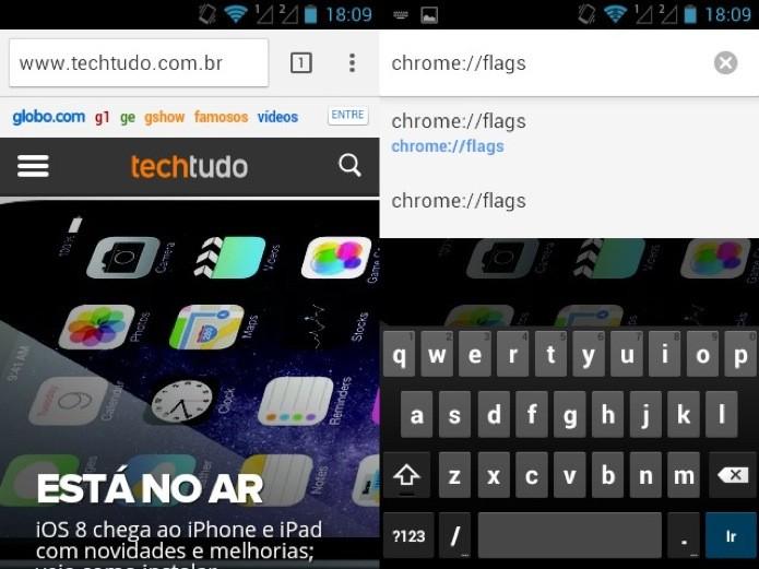 Abra o Chrome e acesse a página de configurações avançadas (Foto: Reprodução/Helito Bijora)