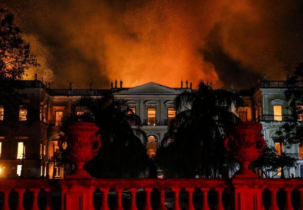 Um incêndio atingiu, no início do mês, o Museu Nacional do Rio de Janeiro, na Quinta da Boa Vista, destruindo o palácio e a maior parte de seu acervo (Foto: Tânia Rêgo/Agência Brasil)