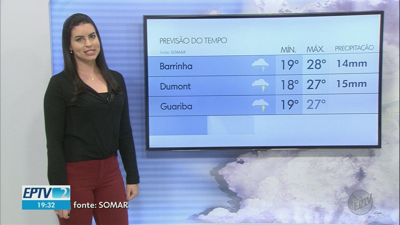 Veja a previsão do tempo para esta quarta-feira (21) na região de Ribeirão Preto