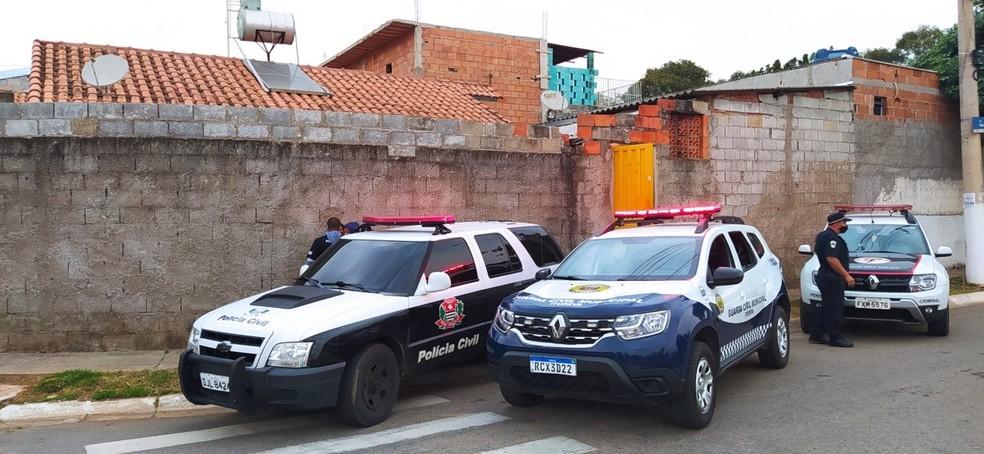 Casa onde o crime teria acontecido em Itupeva (SP) — Foto: Polícia Civil/Divulgação