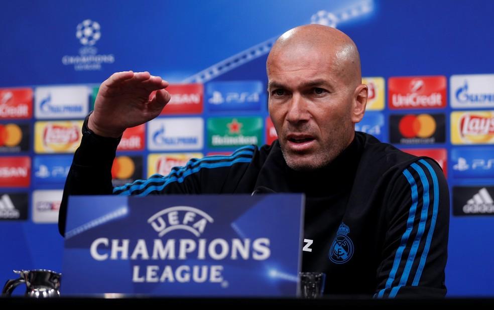 Zidane espera ver um bom jogo de futebol entre Dortmund e Madrid (Foto: Reuters)
