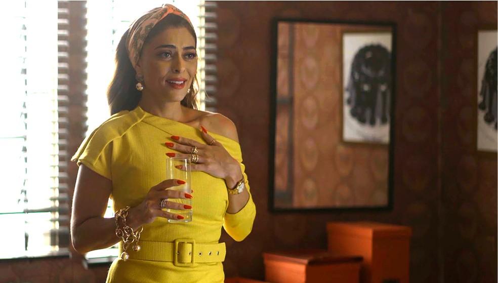 Maria da Paz (Juliana Paes) se emociona ao voltar ao seu antigo apartamento, em 'A Dona do Pedaço' — Foto: Globo